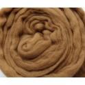Sepia Brown Merino Wool Tops 0.5kg 25 Micron