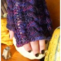 Purple Velvet Wrist Warmer Pattern