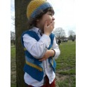 Simply Striped Waistcoat and Beanie Hat Pattern