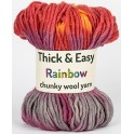 Sunset Thick & Easy Rainbow Wool Yarn