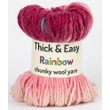 Pink Morning Sky Thick & Easy Rainbow Wool Yarn