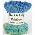 Blue Green Ocean Thick & Easy Rainbow Wool Yarn