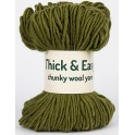 Olive Drab Green Thick & Easy Wool Yarn
