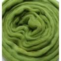 Asparagus Green Merino Wool Tops 0.5kg 25 Micron
