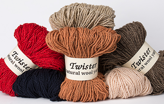 Twister Wool Yarn by knitshop yarns
