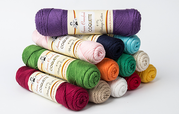Coquette Vintage Cotton Yarn by Susan Crawford